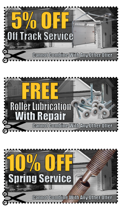 Free Lubrication Coupon for Loyalty Garage Door Repair